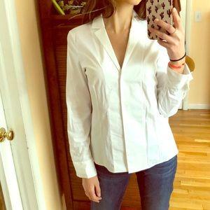 AKRIS white blouse size 8